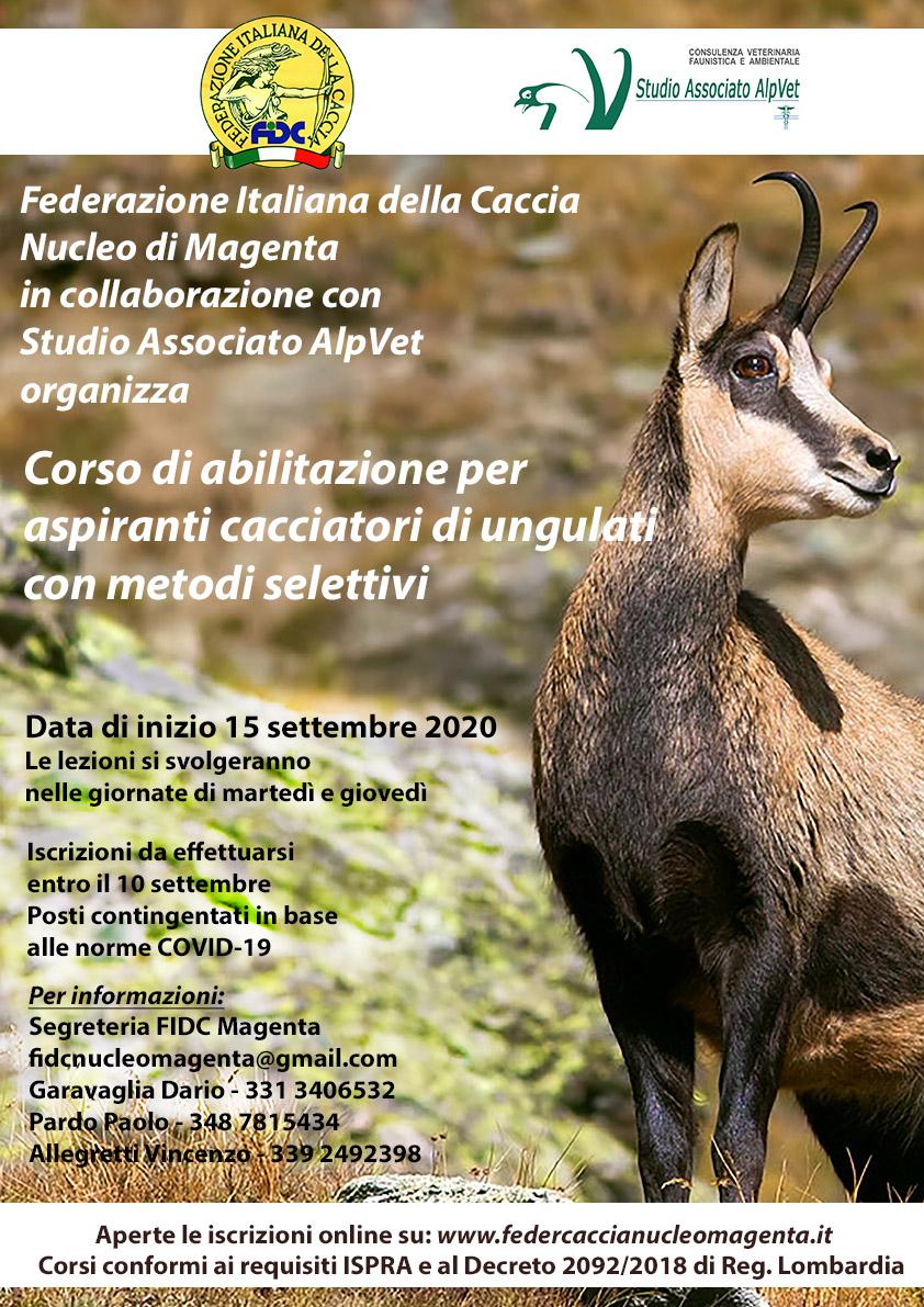Corso per l'abilitazione alla caccia di selezione – FIDC Magenta – 15 settembre 2020