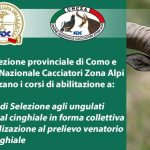 Corso abilitazione caccia selezione agli ungulati, collettiva e specializzazione cinghiale – FIDC Como