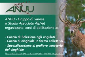 Corso abilitazione caccia selezione agli ungulati, collettiva e specializzazione cinghiale – ANUU Varese