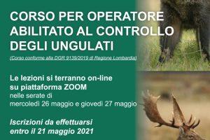 Corso per Operatore abilitato al Controllo degli ungulati – ANUU Varese