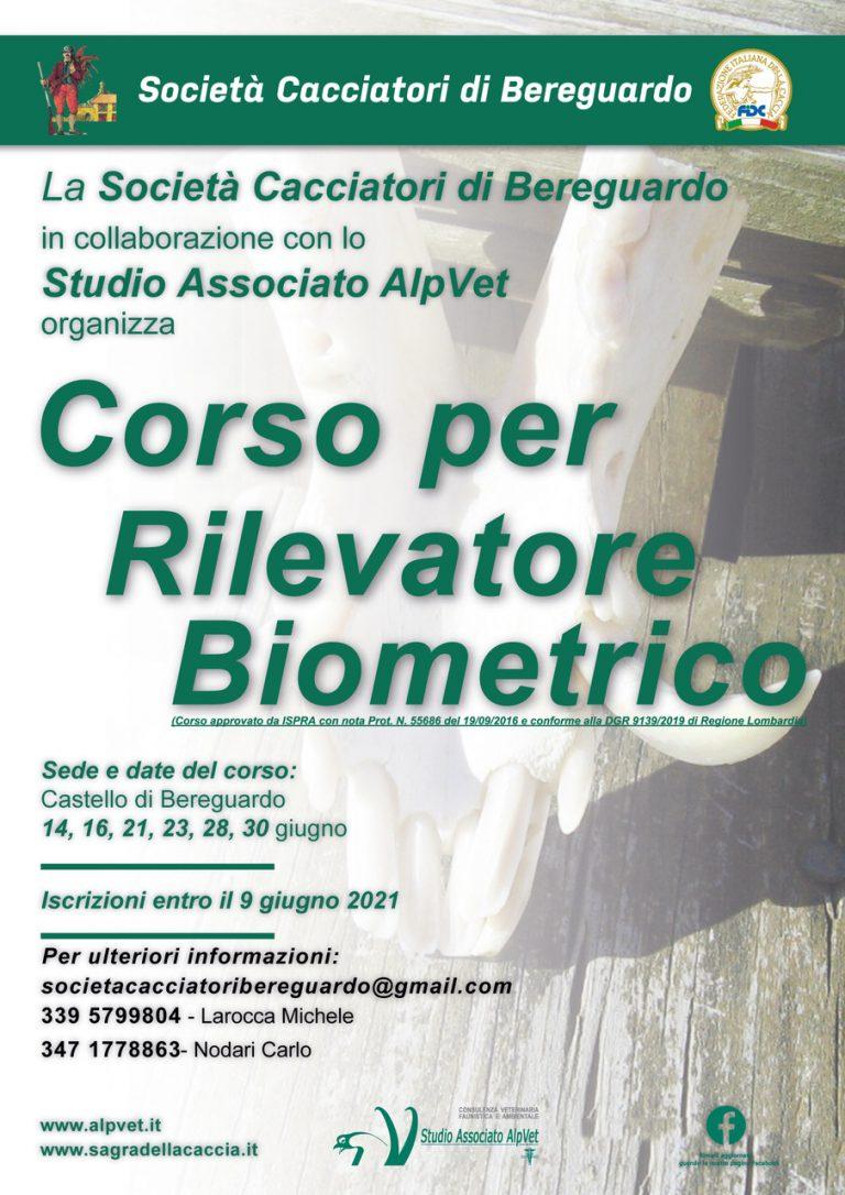 Corso Rilevatore Biometrico – Bereguardo